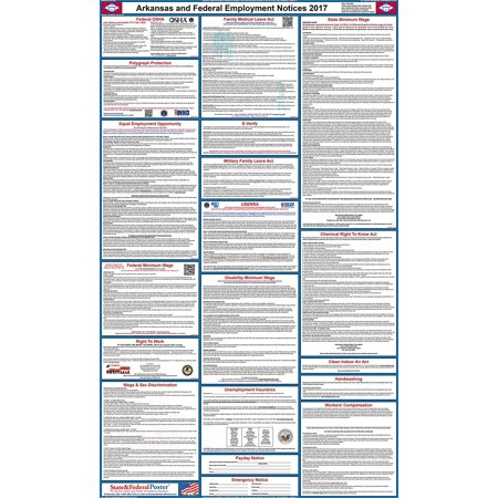2017 Arkansas State And Federal Labor Law Poster  Laminated