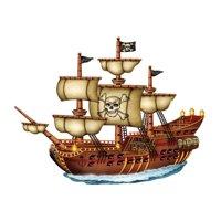 Pirate Ship Birthday Edible Cake/Cupcake Topper