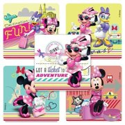 Jet Set Minnie Mouse Stickers - 75 Per Pack