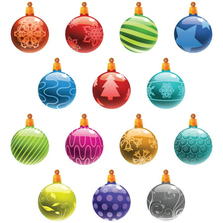 christmas yard decorations traditional hanging christmas ornaments flat globe shape - Walmart Christmas Yard Decorations