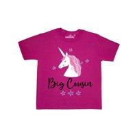Big Cousin Unicorn Announcement Youth T-Shirt