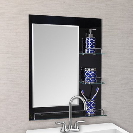 Danya B Oslo Vanity Bathroom Mirror with Shelves