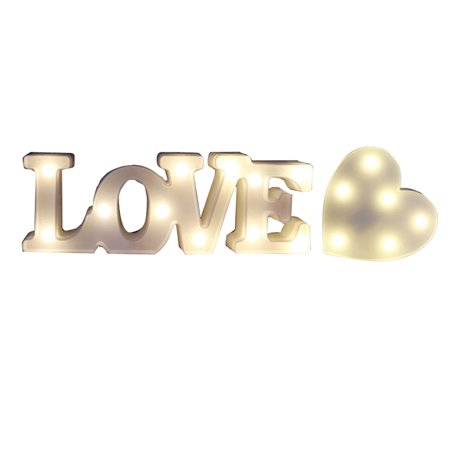 Love Light Sign, Outgeek Creative 3D I Love U Heart LOVE LED Night Light Marquee Sign Decoration Light for Valentine's - Heart Lights