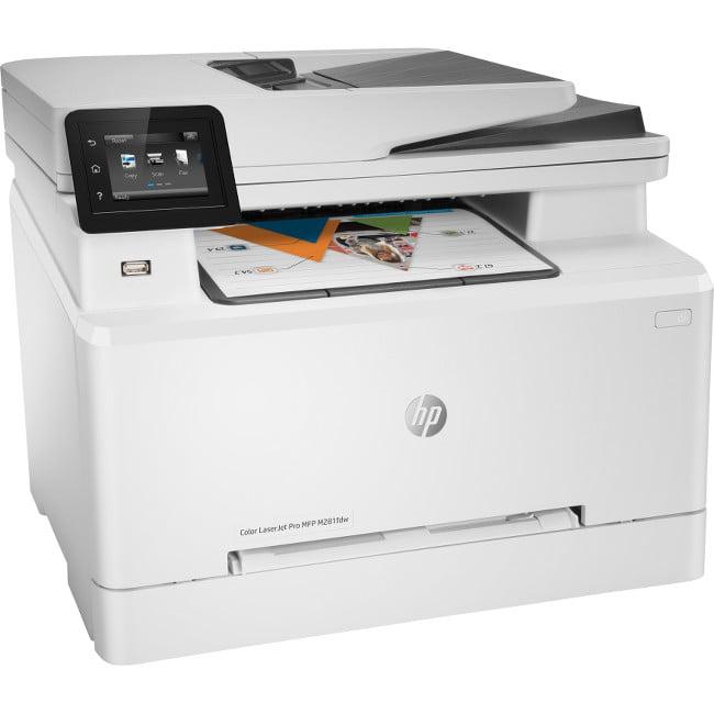 HP FACTORY RECERTIFIED COLOR LASERJET PRO M281FDW 22PPM 600X600DPI 250-SHEET DUPLEX 256MB E-PRINT/GBE/USB/WIFI COLOR LASER PRINTER/COPIER/SCANNER/FAX SAME-AS-NEW/1YR