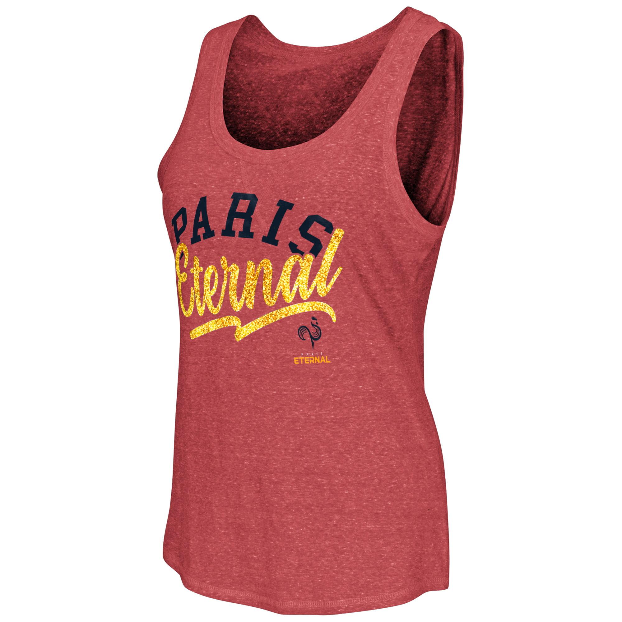 Paris Eternal G-III Sports by Carl Banks Women's Playoff Tri-Blend Tank Top - Red