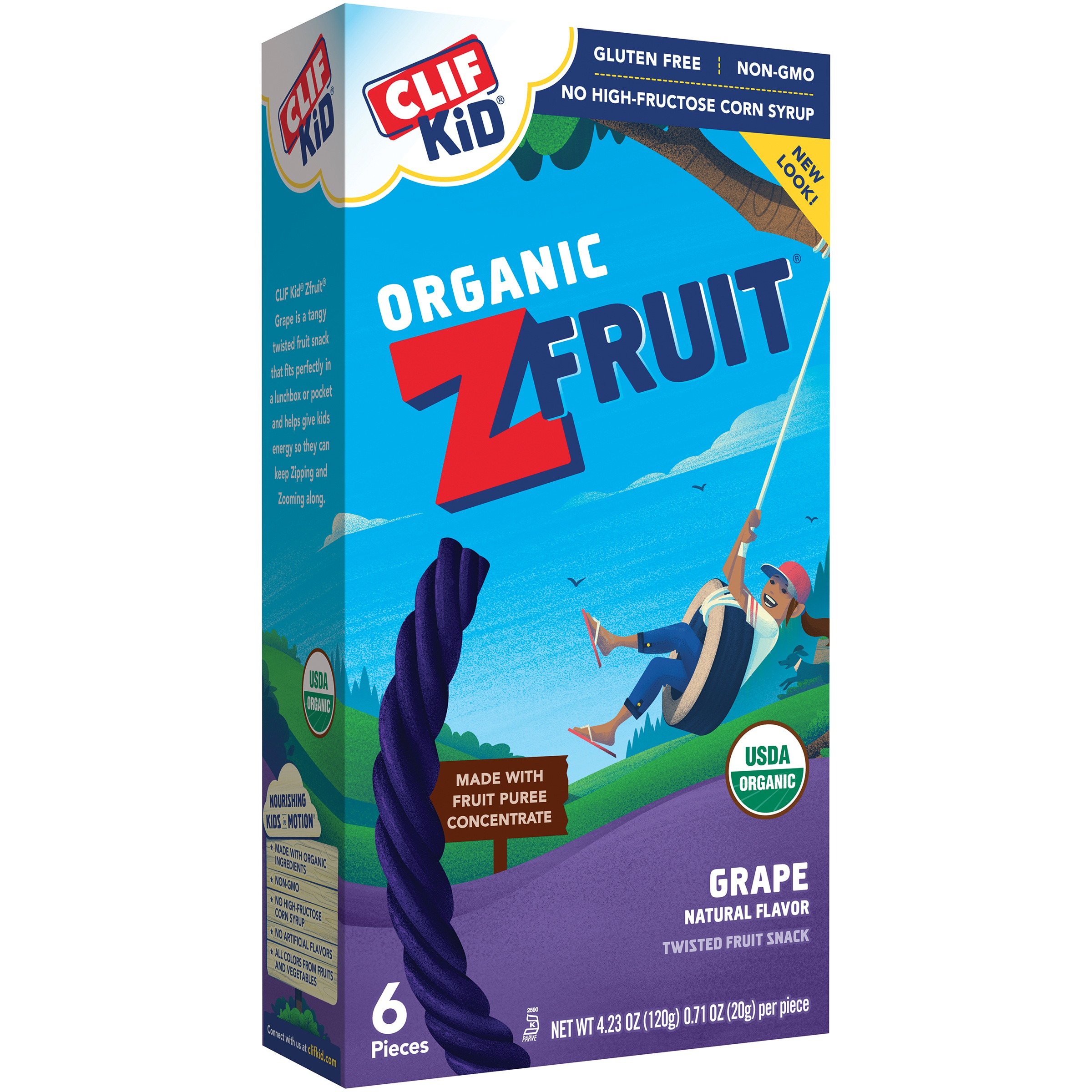 (2 Pack) Clif Kid® Organic ZFruit Grape Twisted Fruit Rope 6-0.71 oz. Wrappers