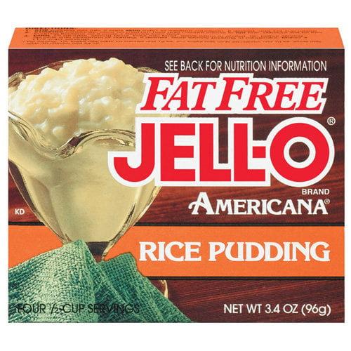Jell-O: Americana Rice Fat Free Pudding, 3.4 Oz
