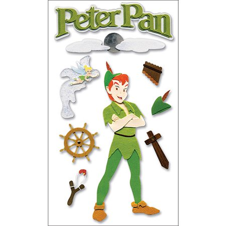 Disney Movie Dimensional Stickers, Peter Pan/Peter - Walmart.com