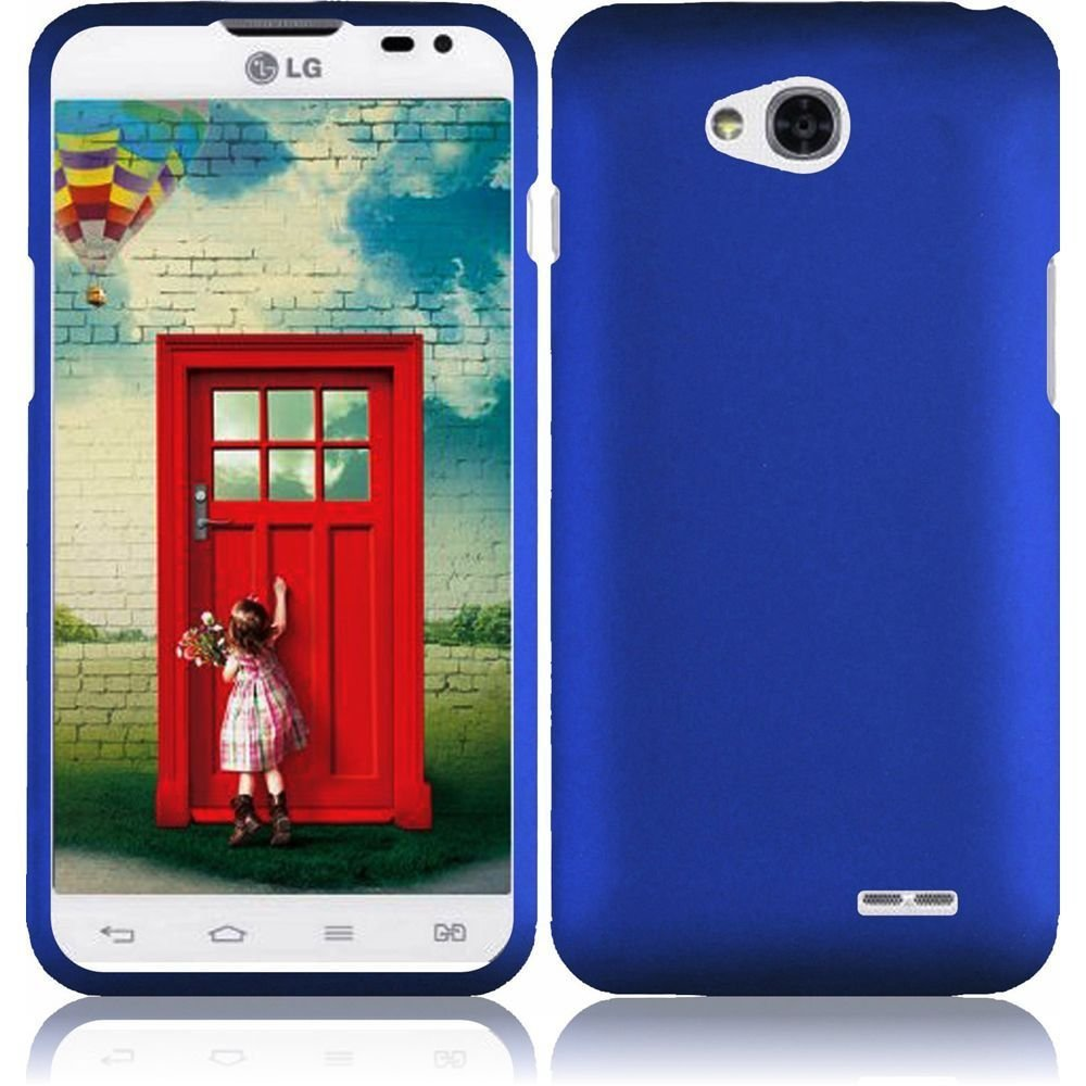 Hard Rubberized Case for LG Optimus Exceed 2 VS450 - Blue