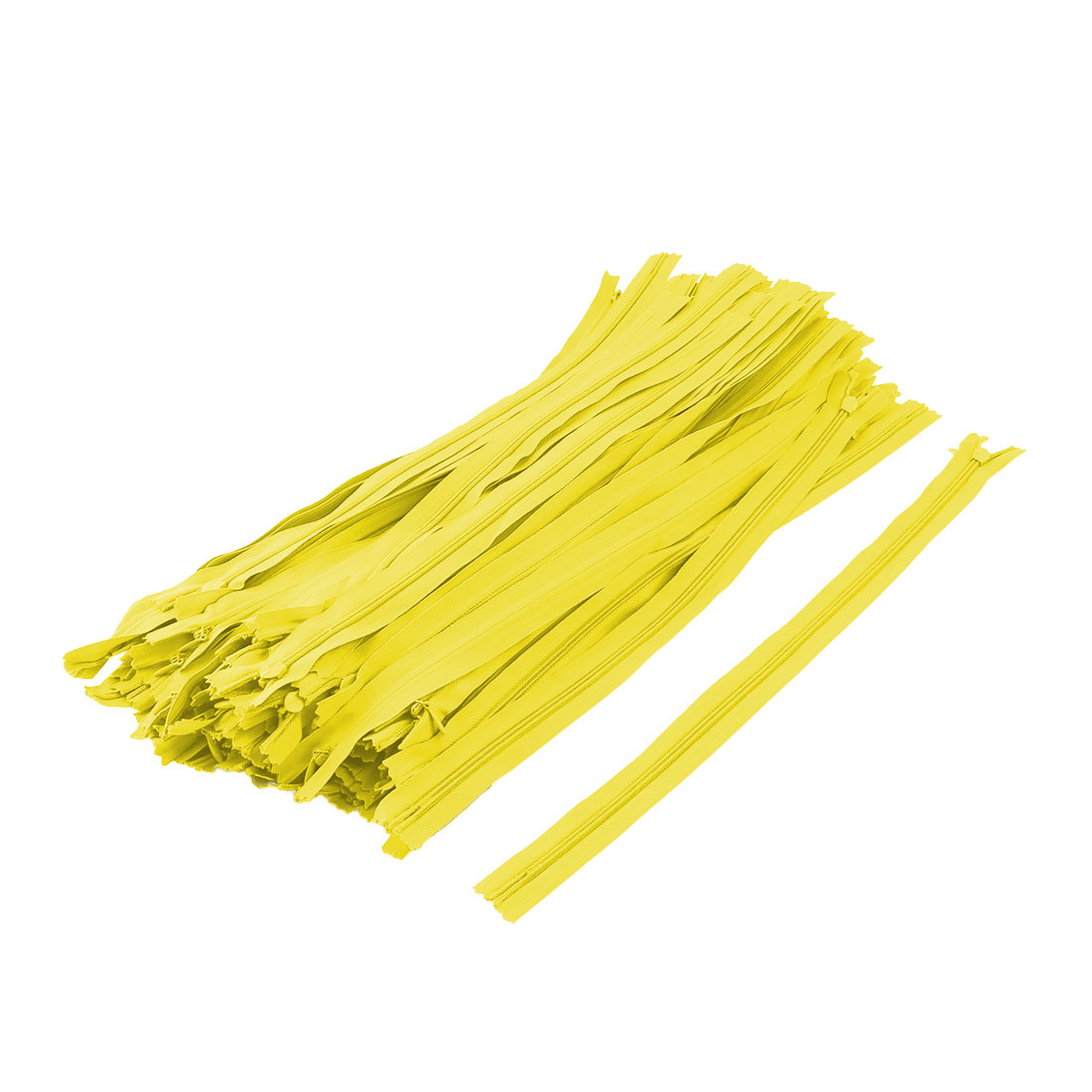 Tailor Nylon Invisible Clothes Zipper Sewing Tool Yellow 16 Inch Length 100 Pcs