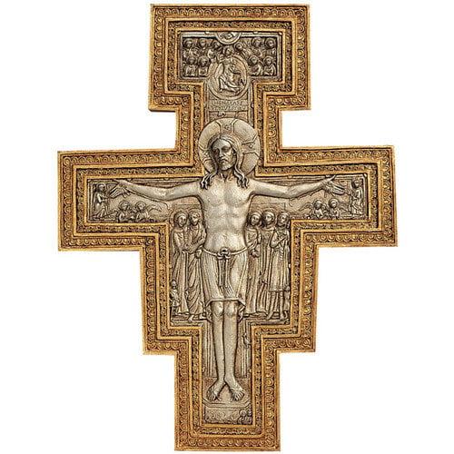Design Toscano San Damiano Sculptural Cross Wall D cor