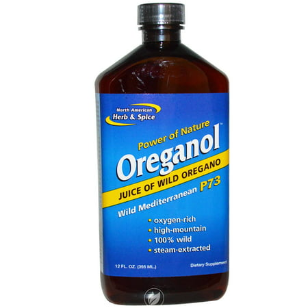 North American Herb & Spice Oreganol P73 Juice 12 Ounce, Pack of -