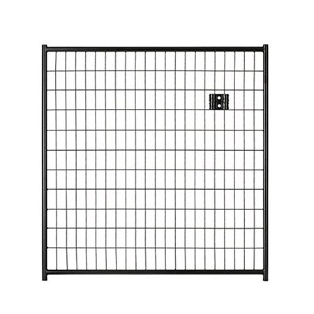 Lucky Dog CL 28440 4 x 4 ft. Black Welded Wire Panel Gate Black Diamond Oval Wire Gate
