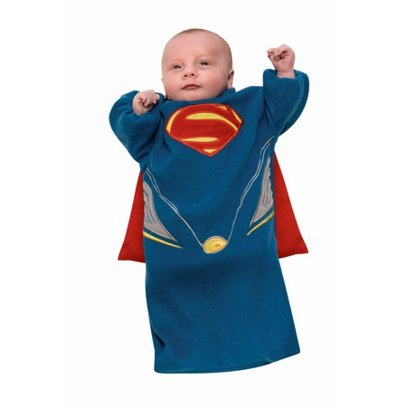 Superman Man Of Steel Bunting Costume Infant - Infant Superman Costume