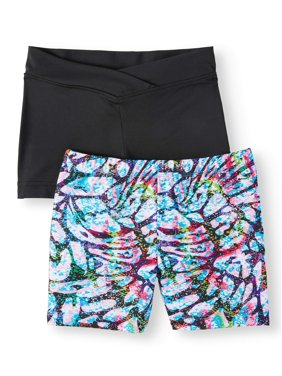 Danskin Now Girl's Premium Dance Short 2 Pack (Little Girls & Big Girls)