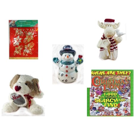 Christmas Fun Gift Bundle [5 Piece] -  Touch of Gold 1-Step Iron-On Foil Poinsettias - Woodniks