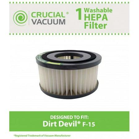 Dirt Devil F15 Washable HEPA Filter, Part #1-SS0150-000, 3-SS0150-001 Dirt Cup Washable Hepa Filter