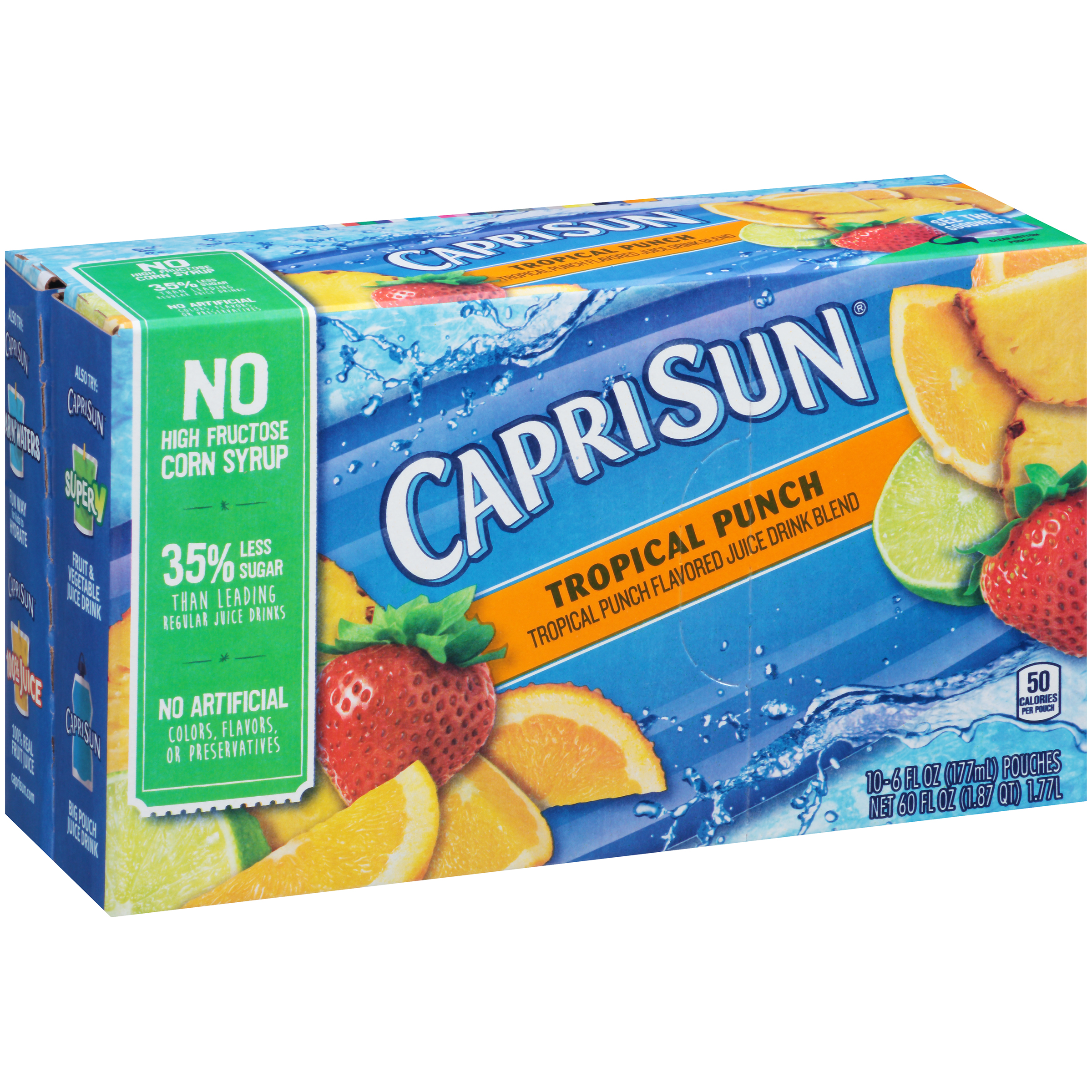 Capri Sun Flavored Juice Drink Tropical Punch - 10 CT
