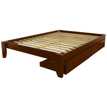 - EpicFurnishings Scandinavia Twin-size Solid Bamboo Wood Platform Bed