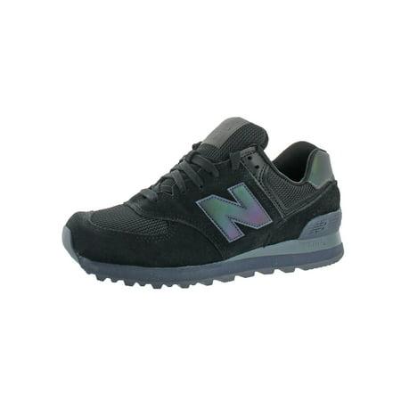 New Balance Mens 574 Urban Faux Suede Fashion Sneakers Black 6.5 Medium