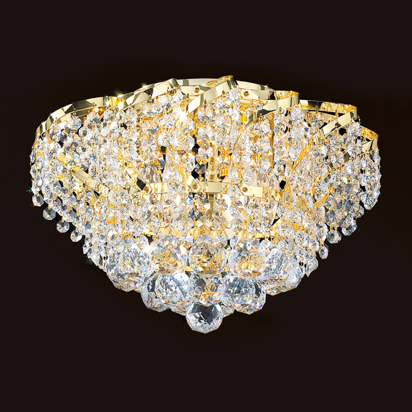 "Worldwide Lighting W33017C16 Empire 3-Light 16"" Flush Mount Ceiling Fixture in Chrome with Clear Crystals"