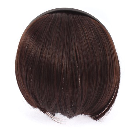 Invisible Traceless Neat Extension False Bangs Wig Piece Hair - Red Hair Wigs