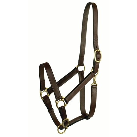 Gatsby Leather Company-Leather Halter- Havanna Brown Suckling