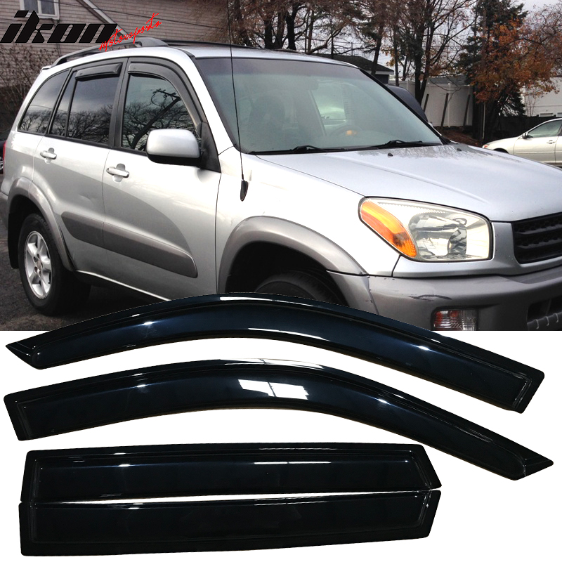 Rain Guards Visor 4pc Deflector For Toyota Rav4 Rav 4 2001 2002 2003 2004 2005