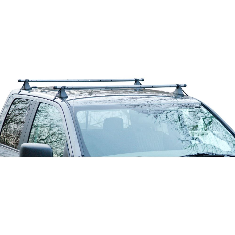 """Pair of 44-60"""" Strap Attached Telescoping Roof Cross Bars for Cars without Rails"""