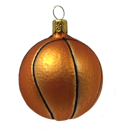 - Basketball Ball Czech Glass Christmas Tree Ornament Sports Decoration