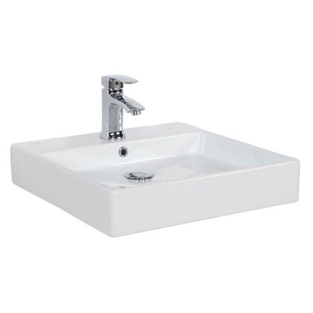 0.75 Bath Sink - WS Bath Collections Simple 50.50B Wall Mount Vessel Bathroom Sink