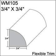Flexible Moulding - Flexible Quarter Round Moulding - WM105 - 3/4 X 3/4 - 8' Straight - Flexible Trim