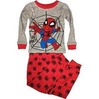 Spider-Man Toddler Boy Snug Fit Cotton Long Sleeve Pajamas, 2pc Set