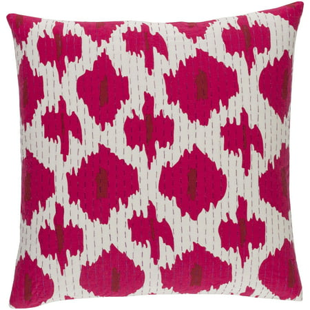 40 Raspberry Pink And White Contemporary Woven Decorative Throw Impressive Raspberry Decorative Pillows