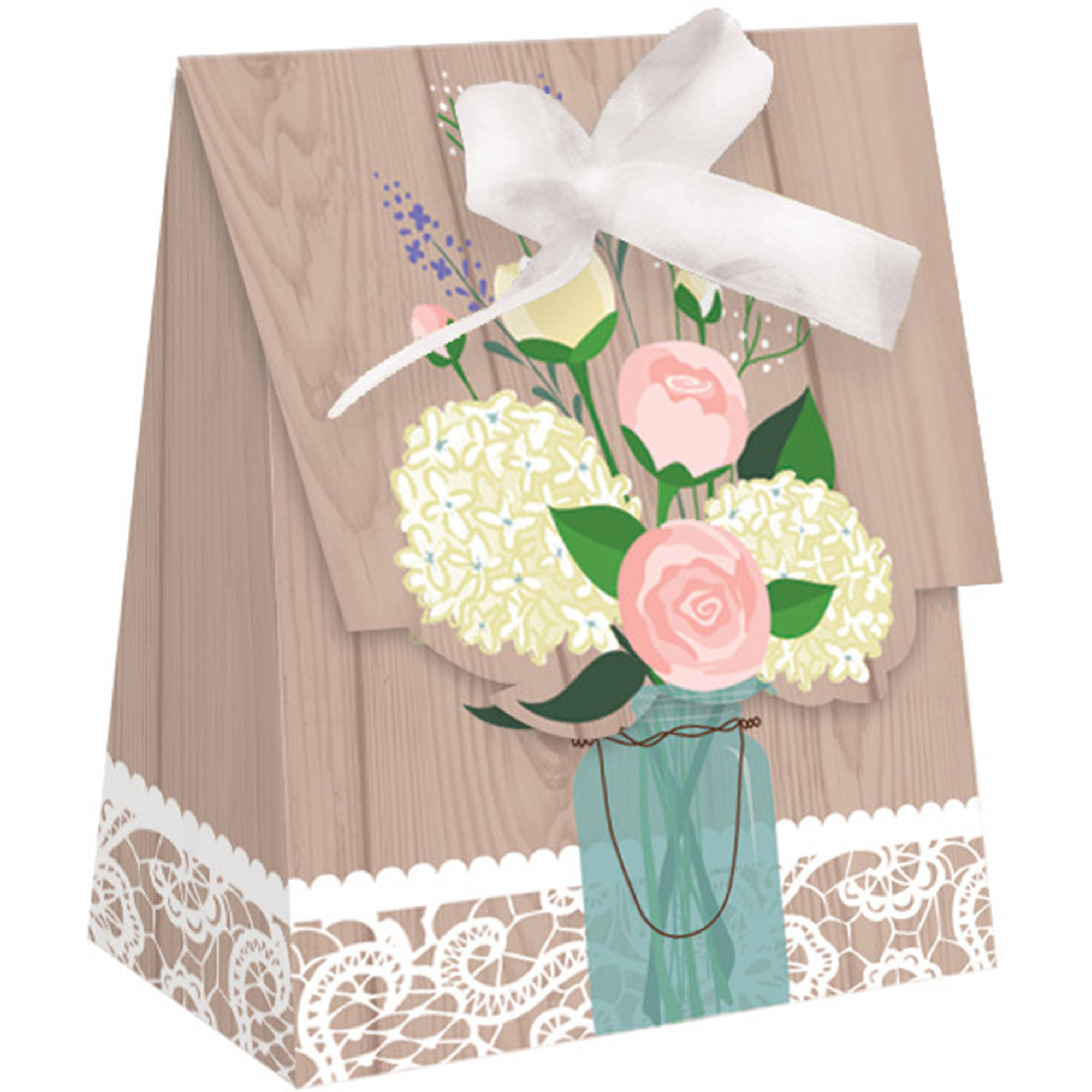 Rustic Wedding Favor Bags, 12-Pack