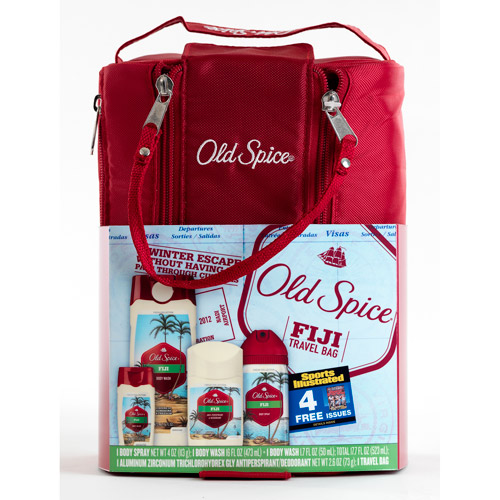 Old Spice Fiji Travel Bag Gift Set with Bonus Sports Illustrated Magazine Subscription