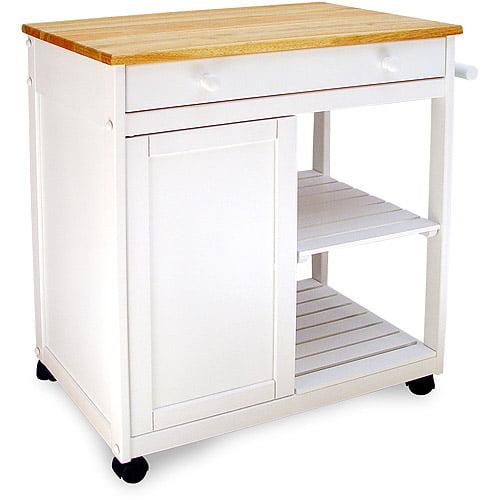 Preston Hollow Kitchen Cart, White by Catskill Craftsmen