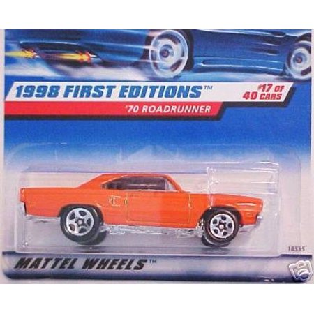 Mattel Hot Wheels 1998 First Editions 1:64 Scale Orange 1970 Roadrunner Die Cast Car