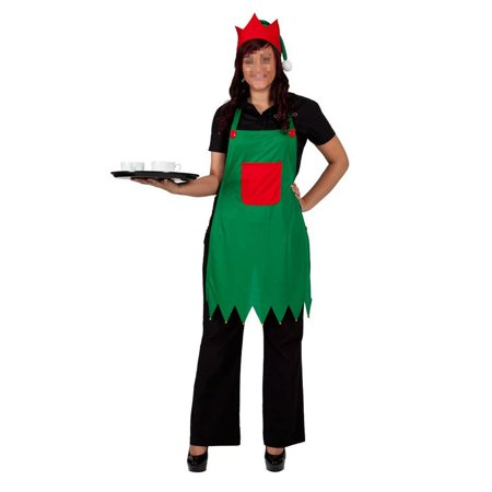 Elf Apron & Hat Set Adult Elf Costume for Christmas Party Fancy Dress Outfits Nativity - Elf Outfit