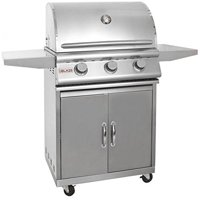 Blaze Blz-3-Lp 25 Inch 3-Burner Built-In Propane Gas Grill And Grill Cart