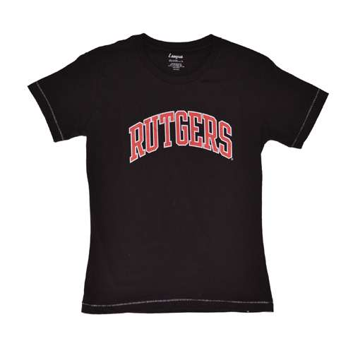 Rutgers Scarlet Knights T-shirt - Ladies By League - Vintage Black