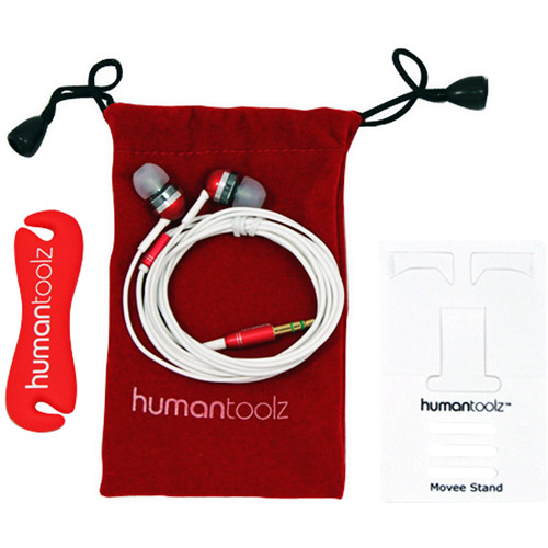 Human Toolz Xft200R Sound Budz Xst In-Ear Headphones With Mic Bundle, Red
