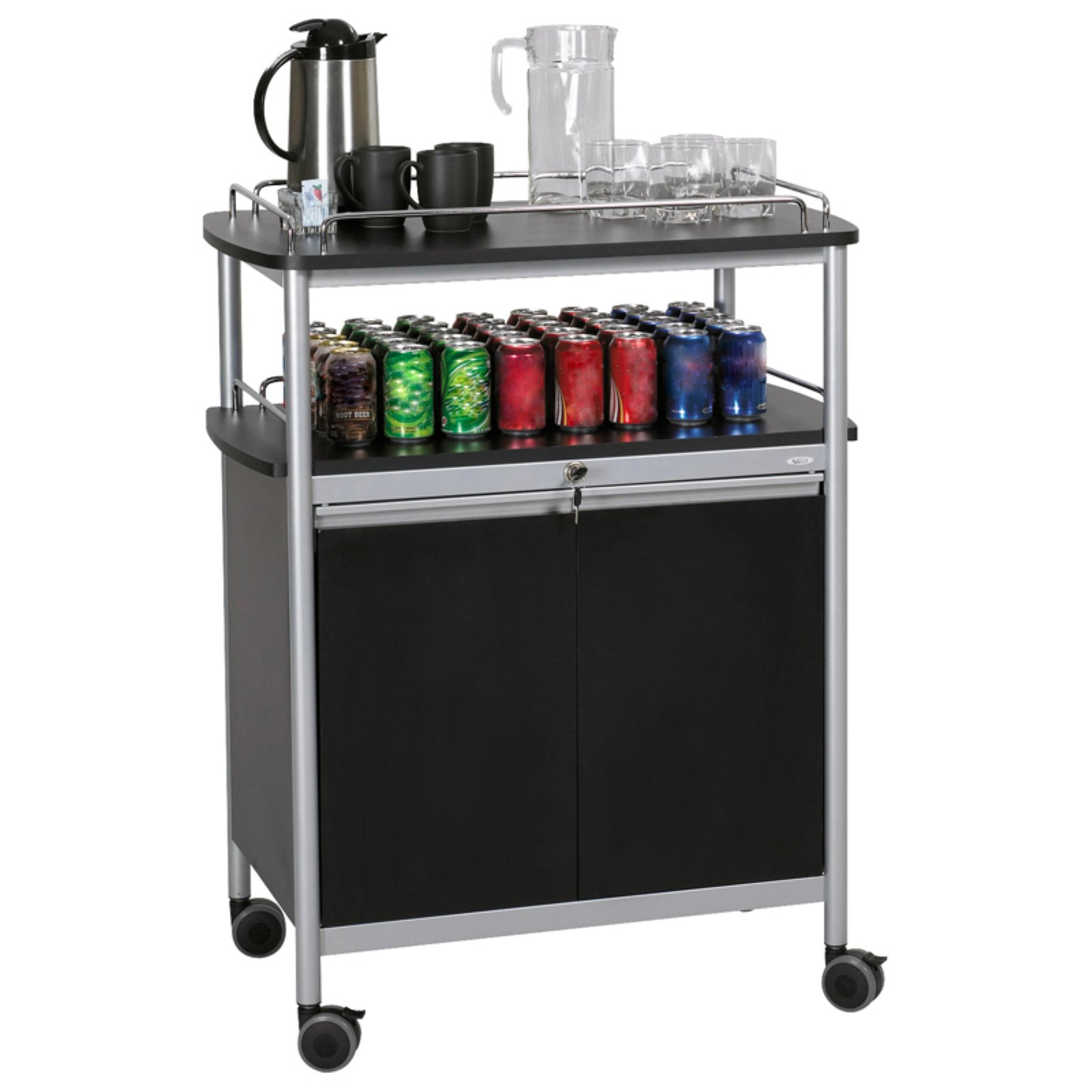 Beverage Serving Cart