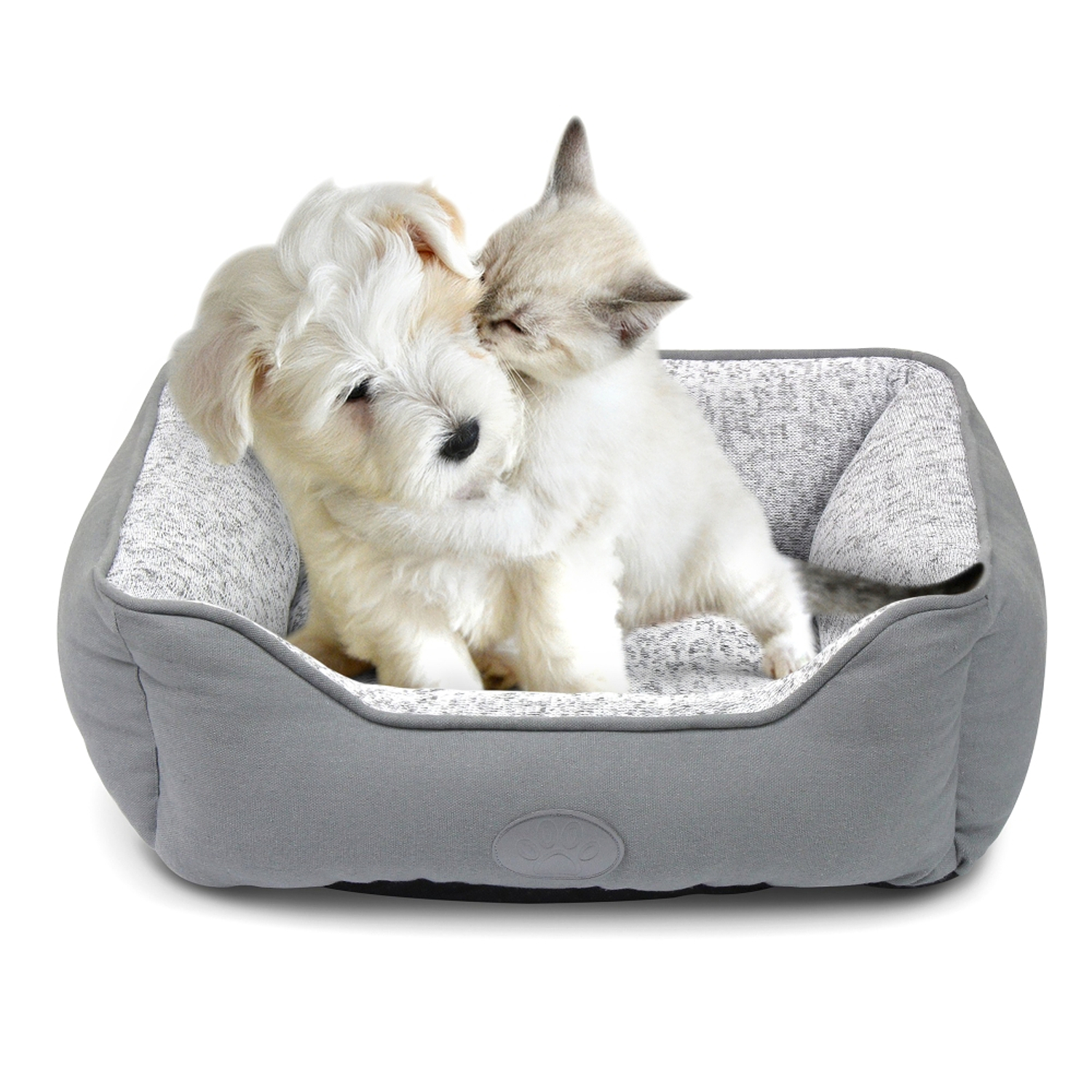 Fluffy Paws Small Non Slip Soft Warm Pet Comfort Couch Dog Cat Lounger Sofa  Bed