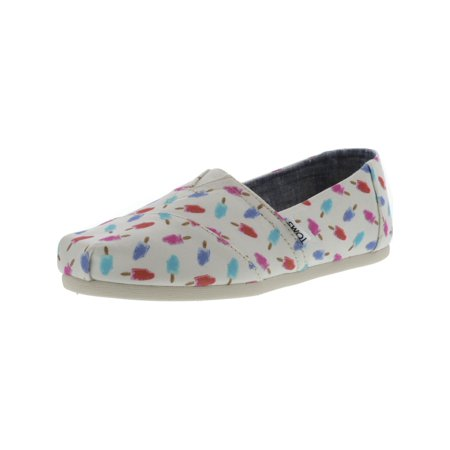 9039dabe07c Toms - Toms Women s Classic Canvas White Popsicles Ankle-High Flat Shoe -  6.5M - Walmart.com