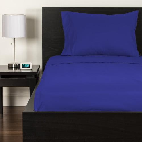 Crayola Blue Berry Blue Full size Microfiber sheet set
