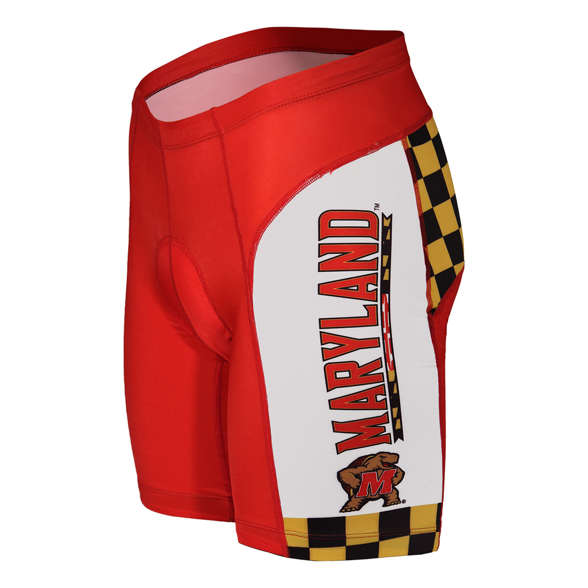 Adrenaline Promotions University of Maryland Terrapins Cycling Shorts (University of Maryland Terrapins - S)