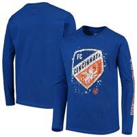 FC Cincinnati Youth Deconstructed Long Sleeve T-Shirt - Blue