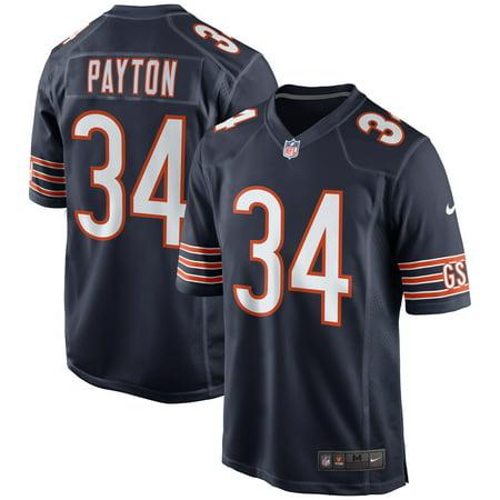 Walter Payton White Jersey (Walter Payton Chicago Bears Nike Retired Player Game Jersey - Navy )