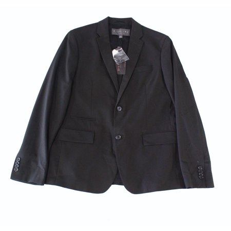 Highline NEW Black Mens Size Small S Notch-Collar Two Button Blazer